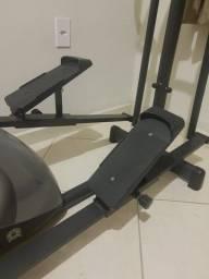 Elíptico e Bicicleta Ergométrica Horizontal Dream Fitness Double MAG 5000 D