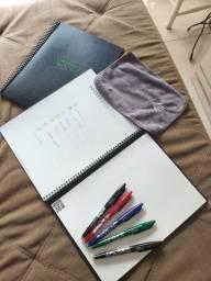 Título do anúncio: 2 Rocket Book s usado em bom estado, com paninho e várias canetas