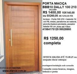porta pivotante 100 210 mad maciça completa R$ 1250,00