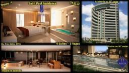 Saint Paul Residence com 4 suites 3 vagas de garagem
