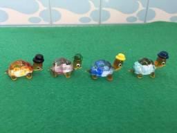 Mini Tartarugas de Vidro para decoração de Aquários