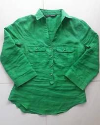 Camisa estilo social da Zara