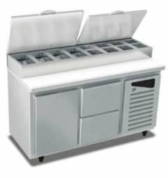 Codimentadora inox sob medida quente ou refrigerada