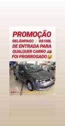 Entrada DE R$1MIL REAIS(VW/GOL 1.0 2016 COMPLETO)SÓ NA SHOWROOM AUTOMÓVEIS