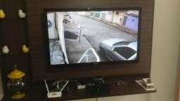 Kit Porteiro eletrônico (Interfone) + Câmera HD direto na TV + Inst. completa