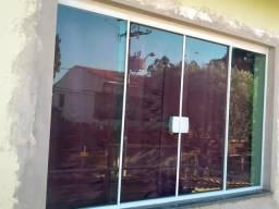 Promoção janela incolor blindex 1.50 x 1.00 apenas $450.00 instalada