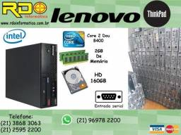 Computador Lenovo Intel Core2duo 8400/2Gb/Hd160/Win7