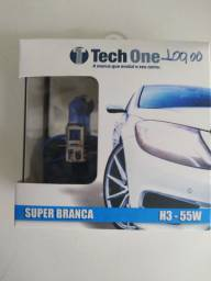 Lâmpada Tech One. Super Branca. H-3. Nova instalada. R$ 100,00.