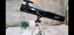 Telescópio refletor com capa + kit de oculares