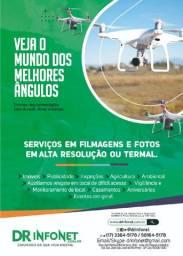 Captura de imagens 4k ou termal com drone Drinfonet