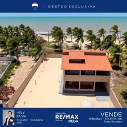 Casa de praia com 4 quartos, 300 m², à venda por R$ 500.000 - Perobas - Touros, RN