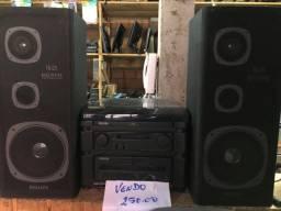 Rádio tocador de fitas e disco