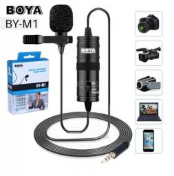 Microfone Boya De Lapela By M1 Para Câmeras E Smartphones Original