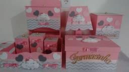 Kit higiene organizador Pronta entrega para quarto de bebê tema nuvem