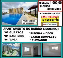Título do anúncio: Alugo Apartamento no Bairro Siqueira Próx a Churrascaria João Filho, Lazer Completo !!