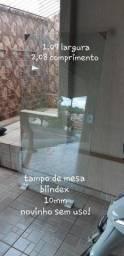 Tampo de mesa vidro blindex 10m