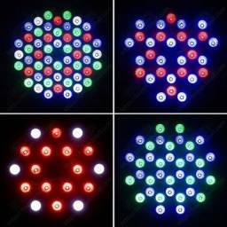 CANHÃO REFLETOR 54 LEDS RGB RÍTMICO BIVOLT JOGO DE LUZ