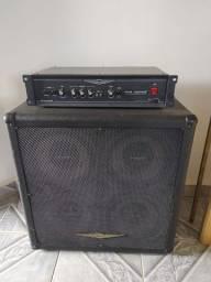 Amplificador de Baixo Set Baixo Oneal Cabeçote 350w + Caixa 4x10 Cabo