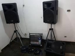 Mesa Behringer x1832 mais equipamentos de som completo