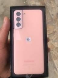 Samsung S21 rosa  na caixa nunca usado!!!