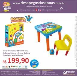 Título do anúncio: Mesa Desmontável Infantil com Cadeira e Boneco +3 anos Galinha Pintadinha Monte Líbano