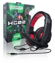 Fone headphone gamer com fio P2 microfone MBtech