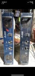 2 amplificador upa 8000 - Stanner  + 4 caixas