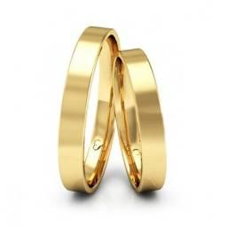Alianças Banhdas a ouro 18k com garantia  total