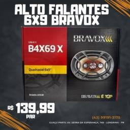 6x9 Bravox 140w Rms Alto Falante Quadriaxial B4x69x Kit Som
