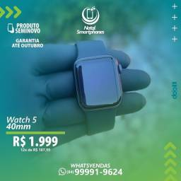 APPLE WATCH SERIE 5 ( PRETO/ 40MM ) - GARANTIA ( ATE OUTUBRO+ CARREGADOR )