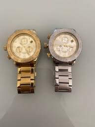 Relógio Mondaine Prata Dourado
