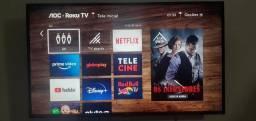 """Título do anúncio: SMART ROKU TV AOC 43"""""""