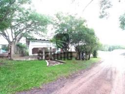 Título do anúncio: Terreno de esquina com casa de alvenaria + depósito/pavilhão em Triunfo - Aceito veículo