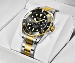 Título do anúncio: Relógio Masculino Lige Quartzo À Prova D'água Pulseira Aço Inoxidavel - Novo!!!