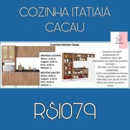 Armário de Cozinha com nicho para forno ou microondas