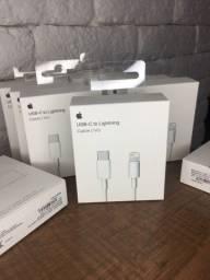 Carregador Cabo USB-C / Lightning - iPhone XR, iPhone 11, iPhone 12 - Garantia + NF