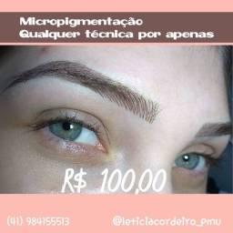 Micropigmentação e extensão de cílios