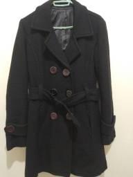 Título do anúncio: Casaco preto de lã