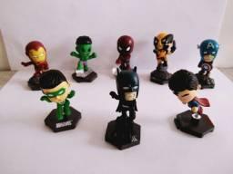 Kit Miniaturas Super Heróis Marvel e DC