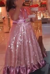 Lindo vestido infantil brilhoso