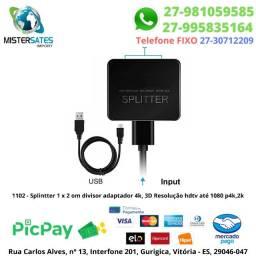 1102 - Splintter 1 x 2 om divisor adaptador 4k, 3D Resolução hdtv até 1080 p4k,2k