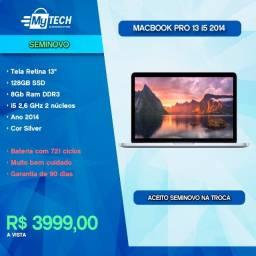 Título do anúncio: Macbook Pro 13 i5 128 Gb SSD Ano 2014 (Seminovo / Ciclos 721)