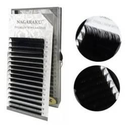 Cílios Nagaraku Premium Mink Mix C D 7-15mm Fio A Fio 0.15c