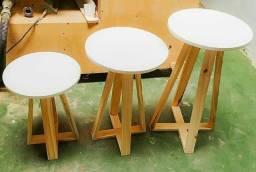Trio de mesas