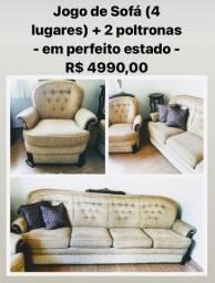Sofa antigo,mas em excelente condições