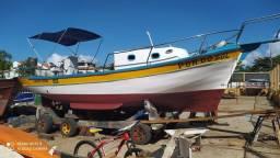 Barco de madeira motor 33 completo