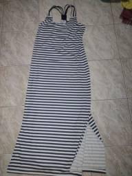 Título do anúncio: Vendo vestido longo e listrado