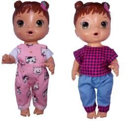 kit roupas para bonecas padrao Baby Alive 5 peças