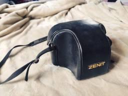 Bolsa + capa de couro originais p/ Câmera Zenit (leia a descrição