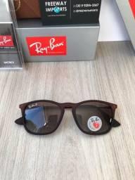 Ray ban óculos de sol RB4187 marrom polarizado